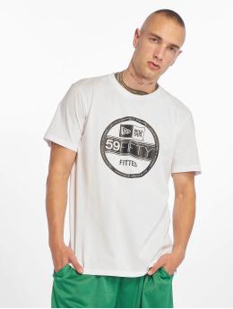 New Era T-Shirty Visor Sticker bialy
