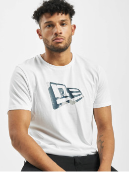 New Era T-Shirty Flag Infill  bialy