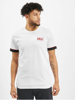 New Era T-Shirty NBA Chicago Bulls Stripe Piping bialy