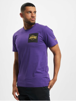New Era T-Shirty NBA LA Lakers Square Logo fioletowy