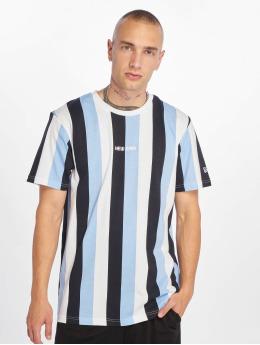 New Era T-Shirty Stripe niebieski