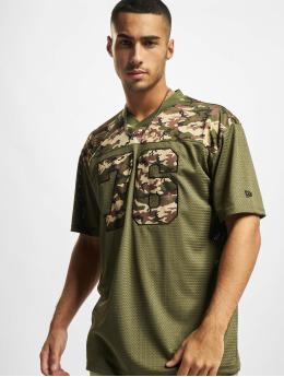 New Era T-Shirty NFL Tampa Bay Buccaneers Camo Infill Oversized Mesh oliwkowy