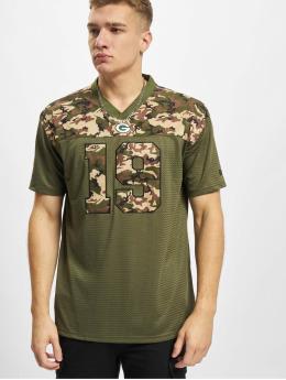 New Era T-Shirty NFL Green Bay Packers Camo Infill Oversized Mesh  oliwkowy