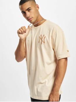 New Era T-skjorter MLB NY Yankees Oversized Seasonal Color beige