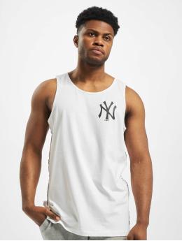 New Era Tank Tops MLB NY Yankees Sleeve Taping bialy