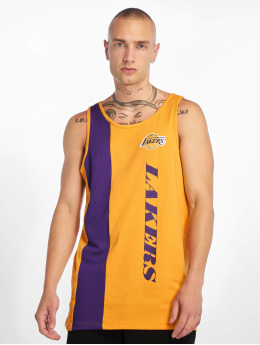 New Era Tank Tops NBA Los Angeles Lakers Team Wordmark goldfarben