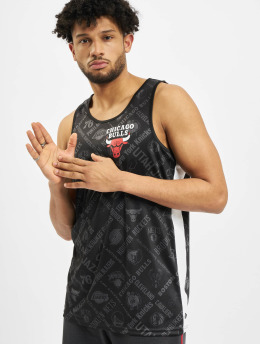 New Era Tank Tops NBA Chicago Bulls Aop  schwarz