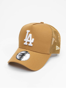 New Era Trucker Cap Mlb Properties Los Angeles Dodgers Tonal Mesh brown