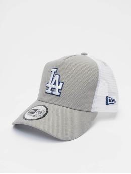 New Era Trucker Cap MLB LA Dodgers Diamond Era 9forty A-Frame grau