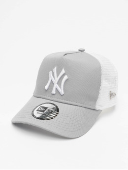 New Era Trucker Cap MLB NY Yankees Clean grau