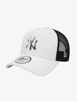 New Era Trucker Cap MLB New York Yankees Check Infill 9Forty AF grau