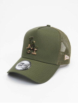 New Era Trucker Cap Mlb Properties Los Angeles Dodgers Camo Infill khaki