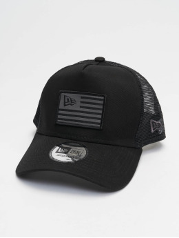 New Era Trucker Cap Flag nero