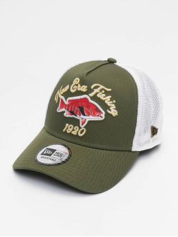 New Era trucker cap NE Fishing 9Forty  olijfgroen