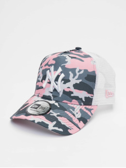 New Era Trucker Cap MLB New York Yankees Camo 9forty A-Frame pink