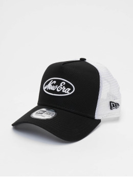 New Era Trucker Cap Oval Script 9forty A-Frame schwarz