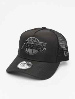 New Era Trucker Cap NBA LA Lakers Tonal Black AF schwarz