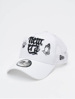 New Era Trucker Cap Script 9forty A-Frame weiß
