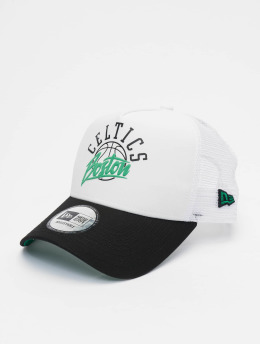 New Era Trucker Cap NBA Boston Celtics Neoprene 9forty A-Frame weiß