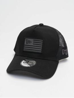New Era Trucker Caps Flag čern