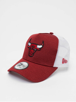 New Era Trucker Caps NBA Chicago Bulls Shadow Tech 9forty A-Frame červený