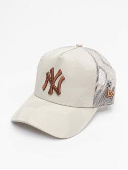 New Era Trucker Caps MLB New York Yankees Multi Camo 9Forty AF šedá