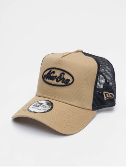 New Era Trucker Caps Oval Script 9forty A-Frame beige