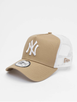 New Era Trucker Caps MLB New York Yankees League Essential 9forty A-Frame bezowy