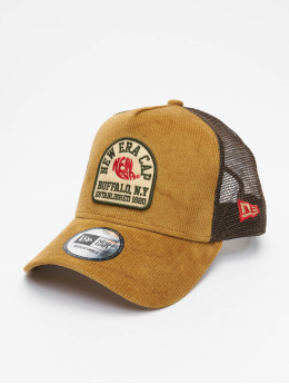 New Era Trucker Caps Fabric Patch  brazowy
