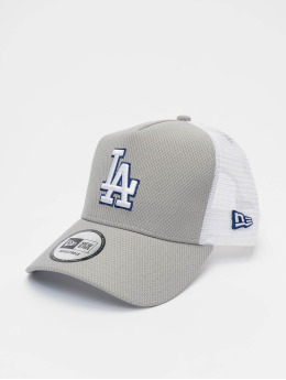 New Era Trucker Caps MLB LA Dodgers Diamond Era 9forty A-Frame grå