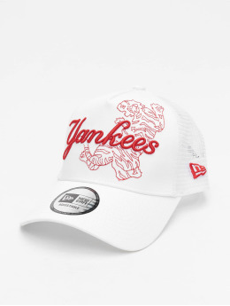 New Era Trucker Caps MLB New York Yankees Tech Fabric Licensed Trucker hvid