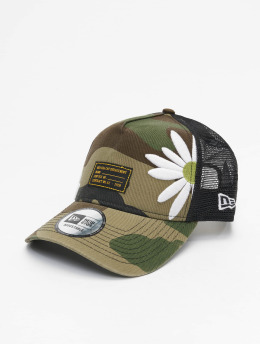 New Era Trucker Caps Military Flower moro