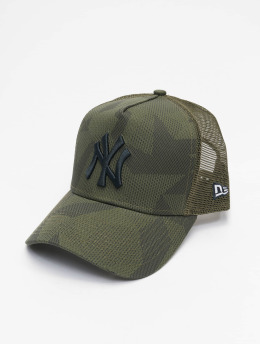 New Era Trucker Caps MLB New York Yankees Multi Camo 9Forty AF olivový