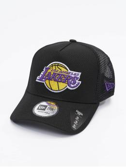 New Era Trucker Caps NBA Los Angeles Lakers Black Base svart