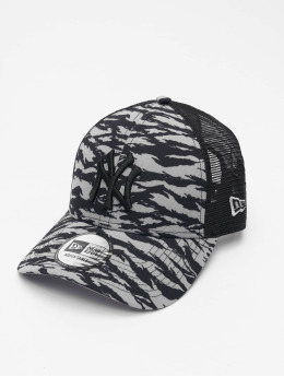 New Era Trucker Caps MLB New York Yankees Tiger Print 9Forty szary