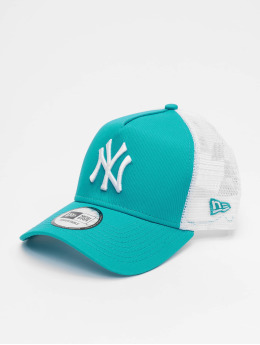 New Era Trucker Caps MLB New York Yankees League Essential 9forty A-Frame turkusowy