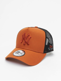 New Era Trucker MLB NY Yankees League Essential A-Frame hnedá