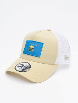 New Era Truckerkeps US State beige