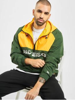 New Era NFL Green Bay Packers Colour Block Windbreaker Jacket Cilantro Green