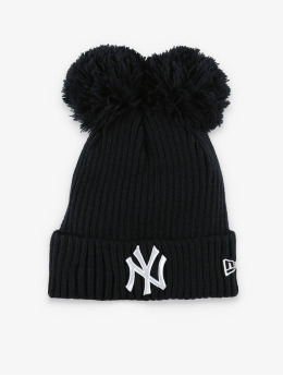 New Era Winter Bonnet MLB NY Yankees Double Pom Cuff blue
