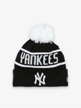 New Era Winter Hat MLB NY Yankees Official Team Colour Bobble Knit black