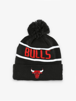 New Era Winter Hat NBA Chicago Bulls Official Team Colour Bobble Knit black