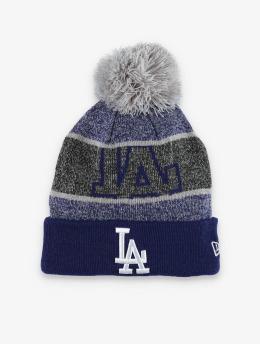 New Era Winter Hat MLB LA Dodgers Logo Peek Knit blue