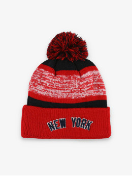 New Era Wintermütze MLB NY Yankees FL Snowfall Stripe 2 rot