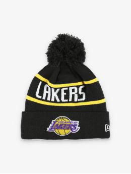 New Era Wintermütze NBA LA Lakers Official Team Colour Bobble Knit schwarz
