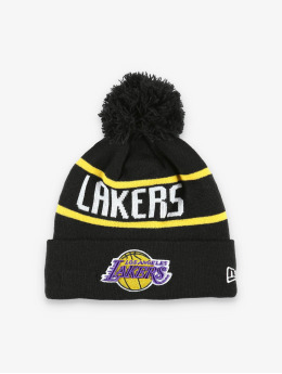 New Era Wintermuts NBA LA Lakers Official Team Colour Bobble Knit zwart