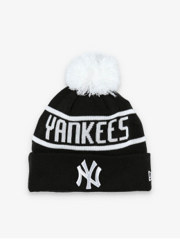 New Era Wollmützen MLB NY Yankees Official Team Colour Bobble Knit svart