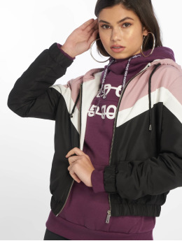 New Look Демисезонная куртка Colourblock Fleece Lined розовый