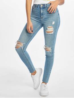 New Look Облегающие джинсы Mid Rip Disco Charlotte синий