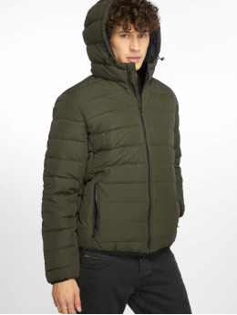 New Look Стеганая куртка Entry Hooded Puffer хаки